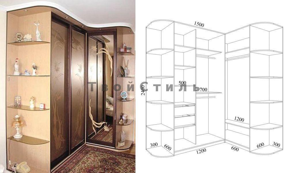 Шкафы- купе на заказ по индивидуальным проектам - стр. 1 - з.